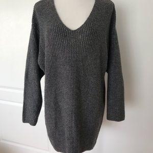 H&M gray oversized sweater